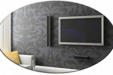 How To Hang Frameless Oval Wall Mirrors
